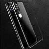 Dafoni iPhone X / XS Ön + Arka Kavisli Metal Kamera Korumalı Şeffaf Cam Ekran Koruyucu - Resim 3