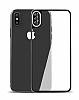 Dafoni iPhone X / XS Ön + Arka Kavisli Metal Kamera Korumalı Şeffaf Cam Ekran Koruyucu - Resim 5