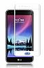 Dafoni LG K10 2017 Curve Tempered Glass Premium Full Beyaz Cam Ekran Koruyucu - Resim 6