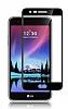 Dafoni LG K10 2017 Curve Tempered Glass Premium Full Siyah Cam Ekran Koruyucu - Resim 6