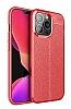 Dafoni Liquid Shield iPhone 13 Pro Max Ultra Koruma Kırmızı Kılıf