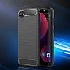 Eiroo Carbon Shield HTC Desire 12 Ultra Koruma Lacivert Kılıf - Resim 5