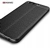 Dafoni Liquid Shield Premium Huawei P10 Kırmızı Silikon Kılıf - Resim 3