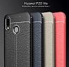 Dafoni Liquid Shield Premium Huawei P20 Lite Gri Silikon Kılıf - Resim 3