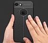 Dafoni Liquid Shield Premium iPhone 7 Siyah Silikon Kılıf - Resim 3