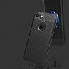 Dafoni Liquid Shield Premium iPhone 7 Siyah Silikon Kılıf - Resim 4
