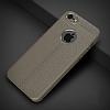 Dafoni Liquid Shield Premium iPhone SE / 5 / 5S Gri Silikon Kılıf - Resim 1