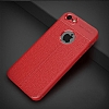 Dafoni Liquid Shield Premium iPhone SE / 5 / 5S Kırmızı Silikon Kılıf - Resim 1
