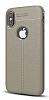 Dafoni Liquid Shield Premium iPhone X Gri Silikon Kılıf - Resim 6