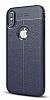 Dafoni Liquid Shield Premium iPhone X Lacivert Silikon Kılıf - Resim 6