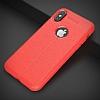 Dafoni Liquid Shield Premium iPhone X Kırmızı Silikon Kılıf - Resim 5