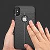 Dafoni Liquid Shield Premium iPhone X Siyah Silikon Kılıf - Resim 4