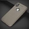 Dafoni Liquid Shield Premium iPhone X Gri Silikon Kılıf - Resim 5