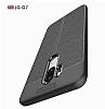 Dafoni Liquid Shield Premium LG G7 ThinQ Lacivert Silikon Kılıf - Resim 5