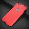 Dafoni Liquid Shield Premium OnePlus 5 Kırmızı Silikon Kılıf - Resim 11