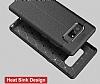 Dafoni Liquid Shield Premium Samsung Galaxy Note 8 Kırmızı Silikon Kılıf - Resim 7