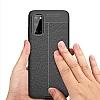 Dafoni Liquid Shield Premium Samsung Galaxy S20 Siyah Silikon Kılıf - Resim 4