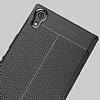 Dafoni Liquid Shield Premium Sony Xperia XA1 Ultra Gri Silikon Kılıf - Resim 1