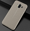 Dafoni Liquid Shield Premium Samsung Galaxy J7 Duo Gri Silikon Kılıf - Resim 3