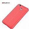 Dafoni Liquid Shield Premium Xiaomi Redmi 4X Kırmızı Silikon Kılıf - Resim 6