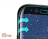 Dafoni Nokia 8 Curve Tempered Glass Premium Full Siyah Cam Ekran Koruyucu - Resim 3