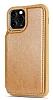 Dafoni Retro iPhone 12 / 12 Pro 6.1 inç Cüzdanlı Kahverengi Rubber Kılıf