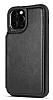 Dafoni Retro iPhone 12 Pro Max Cüzdanlı Siyah Rubber Kılıf