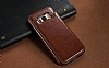 Dafoni Retro Samsung Galaxy S8 Plus Cüzdanlı Kahverengi Rubber Kılıf - Resim 2