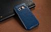 Dafoni Retro Samsung Galaxy S8 Plus Cüzdanlı Lacivert Rubber Kılıf - Resim 2