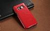 Dafoni Retro Samsung Galaxy S8 Plus Cüzdanlı Kırmızı Rubber Kılıf - Resim 2