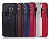 Dafoni Retro Samsung Galaxy S9 Plus Cüzdanlı Kahverengi Rubber Kılıf - Resim 2