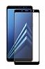 Dafoni Samsung Galaxy A8 2018 Curve Slim Triple Shield Siyah Ekran Koruyucu - Resim 1