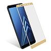 Dafoni Samsung Galaxy A8 2018 Curve Tempered Glass Premium Full Gold Cam Ekran Koruyucu - Resim 3