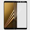 Dafoni Samsung Galaxy A8 2018 Curve Tempered Glass Premium Full Gold Cam Ekran Koruyucu - Resim 2