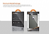 Dafoni Samsung Galaxy Alpha Siyah Kılıf ve Eiroo Cam Ekran Koruyucu Seti - Resim 1