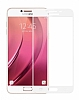 Dafoni Samsung Galaxy C5 Pro Curve Tempered Glass Premium Full Beyaz Cam Ekran Koruyucu - Resim 6