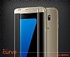 Dafoni Samsung Galaxy C7 Pro Curve Tempered Glass Premium Full Gold Cam Ekran Koruyucu - Resim 4