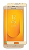 Dafoni Samsung Galaxy J4 Curve Nano Glass Premium Cam Gold Ekran Koruyucu - Resim 6