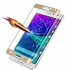 Dafoni Samsung Galaxy Note Edge Curve Tempered Glass Premium Gold Cam Ekran Koruyucu - Resim: 6