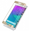 Dafoni Samsung Galaxy Note Edge Curve Tempered Glass Premium Gold Cam Ekran Koruyucu - Resim: 7