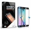 Dafoni Samsung Galaxy S6 Edge Full Tempered Glass Premium Lacivert Cam Ekran Koruyucu