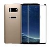 Dafoni Samsung Galaxy S8 Ön + Arka Curve Tempered Glass Premium Gold Cam Ekran Koruyucu - Resim 1