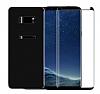 Dafoni Samsung Galaxy S8 Plus Ön + Arka Curve Tempered Glass Premium Siyah Cam Ekran Koruyucu - Resim 1