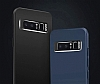 Dafoni Shade Samsung Galaxy A8 2018 Kamera Korumalı Lacivert Rubber Kılıf - Resim 1
