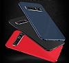 Dafoni Shade Samsung Galaxy A8 Plus 2018 Kamera Korumalı Kırmızı Rubber Kılıf - Resim 3