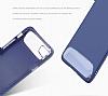 Dafoni Slim Frost iPhone 7 Plus Ultra Koruma Gri Kılıf - Resim 6
