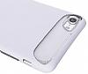 Dafoni Slim Frost iPhone 7 Ultra Koruma Beyaz Kılıf - Resim 4