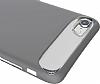 Dafoni Slim Frost iPhone 7 Ultra Koruma Gri Kılıf - Resim 3
