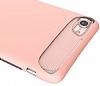 Dafoni Slim Frost iPhone 7 Ultra Koruma Pembe Kılıf - Resim 4