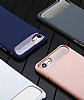 Dafoni Slim Frost iPhone 7 Ultra Koruma Pembe Kılıf - Resim 1